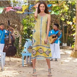 SUNDANCE Island Mystique Yellow Maxi Dress